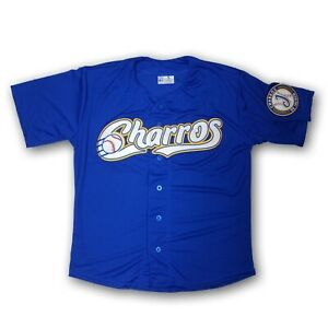 Charros de Jalisco Men's Blue Baseball Jersey Made in Mexico Stitched Logo
