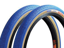 Old School BMX Freestyle Tyres Panaracer 20 X 1.75 Blue in Pairs of 2