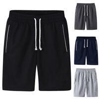 Men Summer Fashion Drawstring Nylon Gym Pants Sport Shorts Solid Color