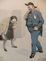 Simili Aquarelle L'oeuvre de Zola 1898 par H Lebourgeois L'argent