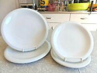 "CULINARY ARTS HEAVY DUTY ""CAFEWARE"" 4PC. PORCELAIN DINNERWARE SET in SOLID WHITE"