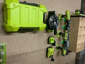 Ryobi One+ Wall Mount Brackets For Tools & 18V Battery, Drills, Circular Saw