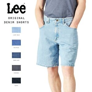 LEE DENIM SHORTS ORIGINAL HEMMED MENS 28,29,30,31,32,33,34,36,38,40,42