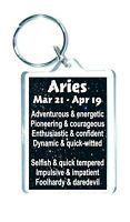 Aries Star Sign Keyring  - Zodiac Horoscope Astrology - Novelty Gift Present