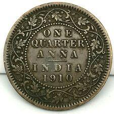 BRITISH INDIA 1910 1/4 ANNA BRONZE COIN  EDWARD VII .KM # 502