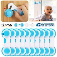 10x Kids Safety Locks Baby Box Drawer Cabinet Cupboard Wardrobe Door Fridge Safe