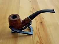 Oak Wood Tobacco Pipe With Filter & Pouch - Wooden Smoking Pipe - Brown