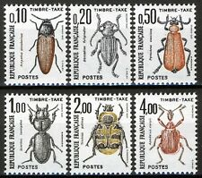 France 1982, Timbre-Taxe, Insects, Bugs set MNH, Mi 106-111 2,5€