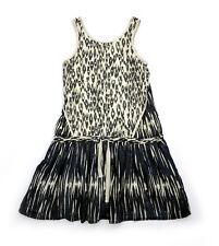 Sea NY Dress Womens 4 Rare Boho Silk Drop Waist Festival Animal Print Oversized