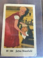 1950s  Star card- Jayne Mansfield (with second head)  $5 PP.  Vg