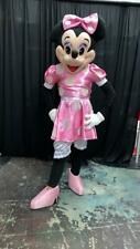 USED Minnie Mouse Character Pink Dress Mascot Costume Cosplay Party Event Adult