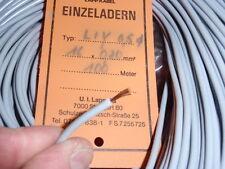 100m KABEL LITZE GRAU 0,5mm2 flexibel AUSSEN ~ D=3,2mm PKW, ELEKTRONIK..   23715