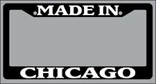 "Black License Plate Frame ""Made in Chicago"" Auto Accessory Novelty"