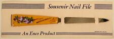 VINTAGE ENCO SOUVENIR NAIL FILE ROCKEFELLER CENTER NY ON CARD