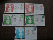 FRANCE - 5 enveloppes 1er jour 1993 (marianne) (cy21) french