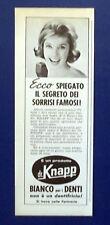 A696-Advertising Pubblicità-1962-DENTIFRICIO DR.KNAPP