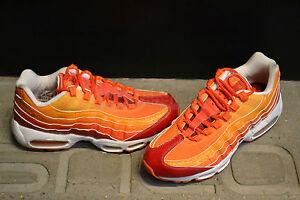 "Nike Air Max 95 ""Fantastic Four Human Torch"" - Deep Red/Orange Blaze-V Maize"