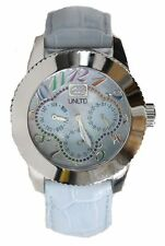 "NEW Womens Marc Ecko UNLTD Watch ""The Lucky"" Crystal Blue Leather E11532L3 $115"