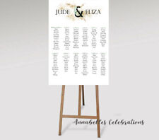 Green Leaf Earth Custom Table Seating Welcome Sign Wedding Gold Print File