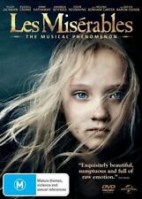 LES MISERABLES Hugh JACKMAN Russell CROWE Anne HATHAWAY Amanda SEYFRIED DVD NEW