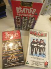 VHS BEATLES LOTE /LOT  ( coleccionistas )