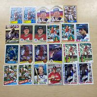 Carlton Fisk Vintage Baseball Card Lot Of 23 DA92984