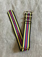 22mm .Nato. Nylon Watch Strap Wristwatch Band.Brand new.Black,yellow,blue,red