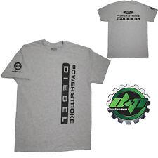 Ford Powerstroke Diesel Tee truck shirt DPP trucker gear 4X4 Light Gray SMALL