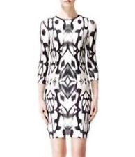 REISS Fenella Dress Jersey Abstract Print Work Dinner Evening Size L AU 14