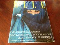 Rivista Magazine Elle France 18 Octobre 1976