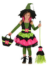 Girls Size 10 Spiderina Chasing Fireflies Witch Costume Includes Dress and Hat