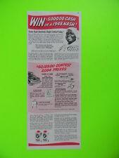1947  AUNT JEMIMA'S JINGLE PANCAKE MIX AND NASH CAR ~ SALES PROMO ART AD