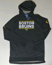 Boston Bruins adidas Authentic NHL Squad Pullover Hoody Large