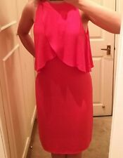 Beautiful coral red/pink summery dress size 10