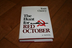 The Hunt For Red October Tom Clancy First Edition Hardcover Signed Autograph