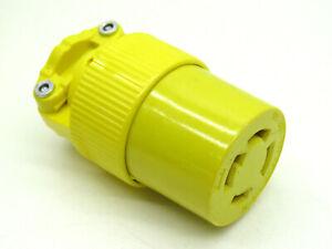 Pass & Seymour L1630-C Turn Lock Locking Connector 30A 480V 3P 4W L16-30C Yellow
