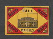 Série étiquettes allumettes  Chine   VVV98  Hall Mapo