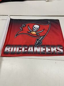 Tampa Bay Buccaneers NFL Hombre Car Flag 2 Sided Comes In Set Of 2