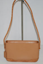 Aigner Leather Shoulder Bag Purse Very Nice Details Lightweight Tan Weave