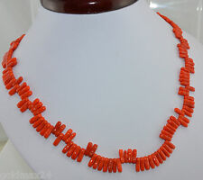 Halskette - Koralle / Verschluss vergoldet / ca. 50 cm