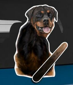 Rottweiler Dog Rear Car Window Sticker With Wagging Tail To Fit On Wiper Arm