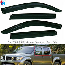 Window Visors Vent Sun Shade For 2005 2020 Nissan Frontier Crew Cab Smoke 4pcs Fits 2011 Nissan Frontier