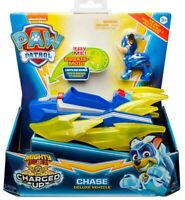 Paw Patrol CHASE's Deluxe Vehicle Charged Up + chase Mighty Pups New - FAST POST