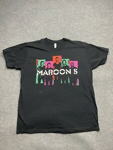 Maroon 5 Shirt Mens 2 Extra Large 2013 Overexposed Tour Concert Adult Tee