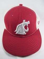 Washington State Cougars WSU New Era Red Fitted 7 1/4 Mesh Baseball Cap Hat