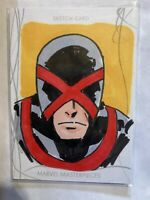 2020 Upper Deck Marvel Masterpieces 1 Of 1 Sketch Art Cyclops By Othell