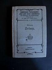 Antik Buch 1813 Zriny ein Trauerbrief in fünf Auszügen von Theodor Körner K0301