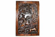 Solid Wood carving panel Antique French architectural Plaque