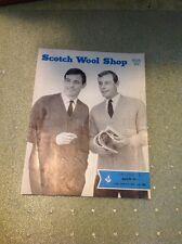 VINTAGE MEN'S CLUB Cappotti Knitting Pattern-SCOTCH LANA shop Greenock rapido SEI