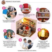 Living House DIY Miniature Holz Puzzle puppenhausmöbel Spielzeug Geschenk-B  X